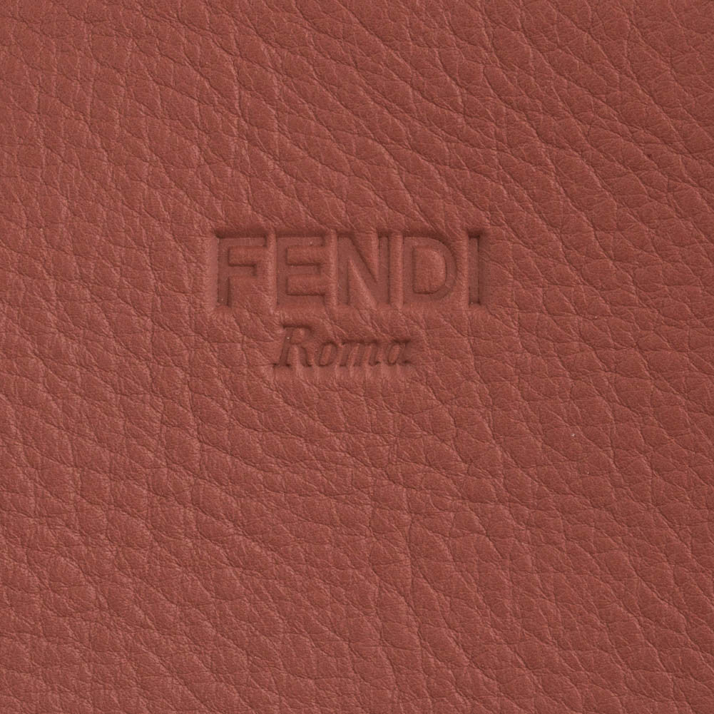 Fendi Leather Shopping Tote - Brick