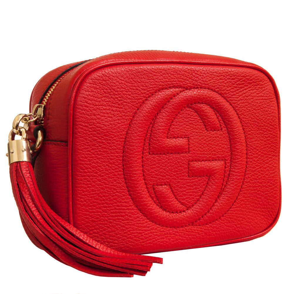 Gucci Soho Leather Disco Bag - Red