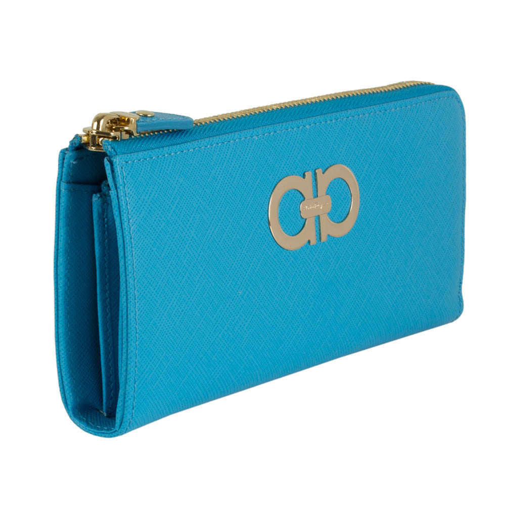 Sale In China Gancini zip-around wallet - Blue Salvatore Ferragamo Buy Online With Paypal Outlet Shop sJOyL7b