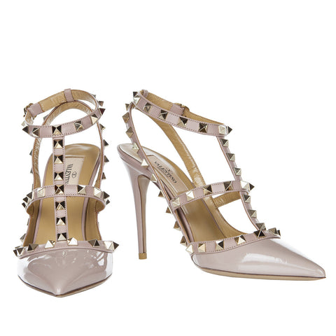 Valentino Rockstud Poudre 100mm Ankle Strap Pump - IW2S0393VNW P45