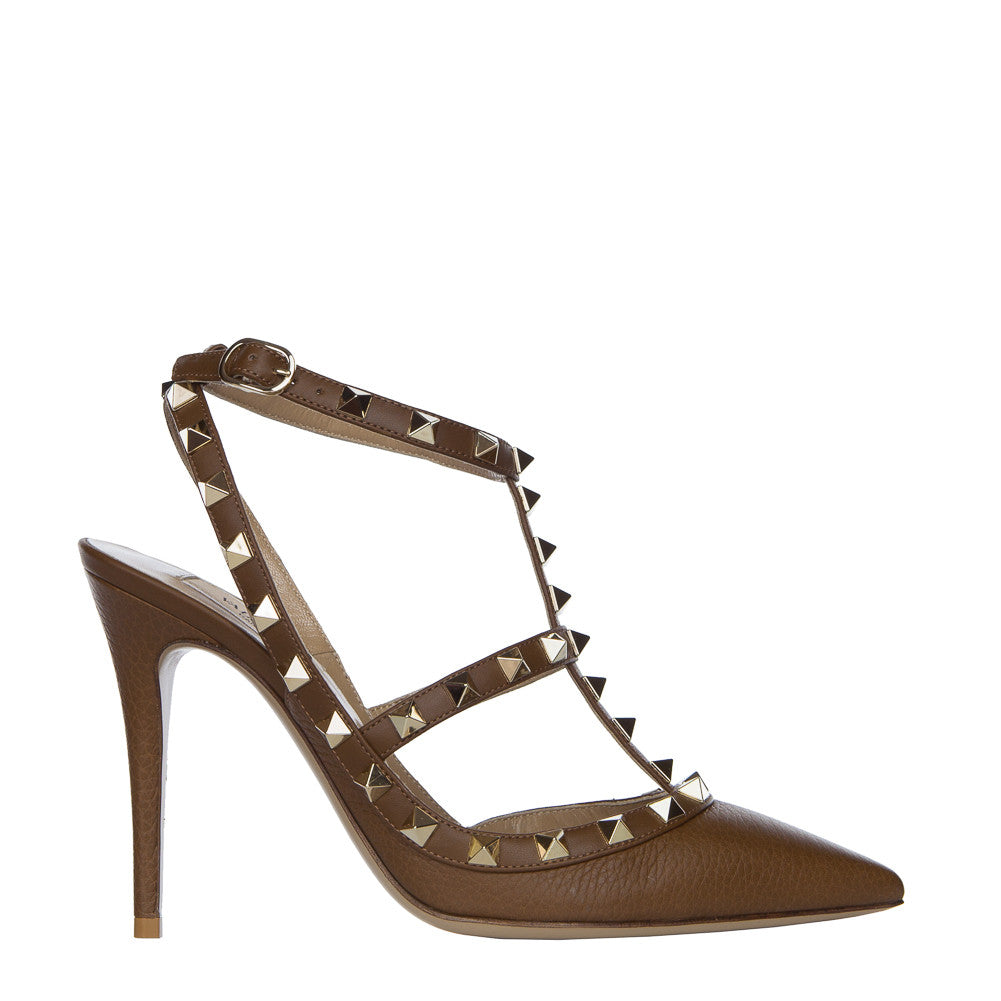 Valentino Rockstud Deep Cuir 100mm Ankle Strap Pump - IW2S0393VCE Y11