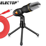 New Microphone 3.5mm Plug Home Stereo MIC Desktop Tripod for PC