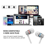 Wired Earphone 3.5mm Earbuds With mic
