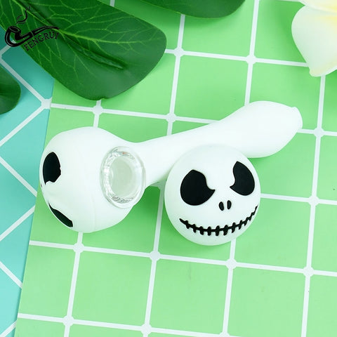 Creative Halloween 1pcs Silicone Smoking Pipe