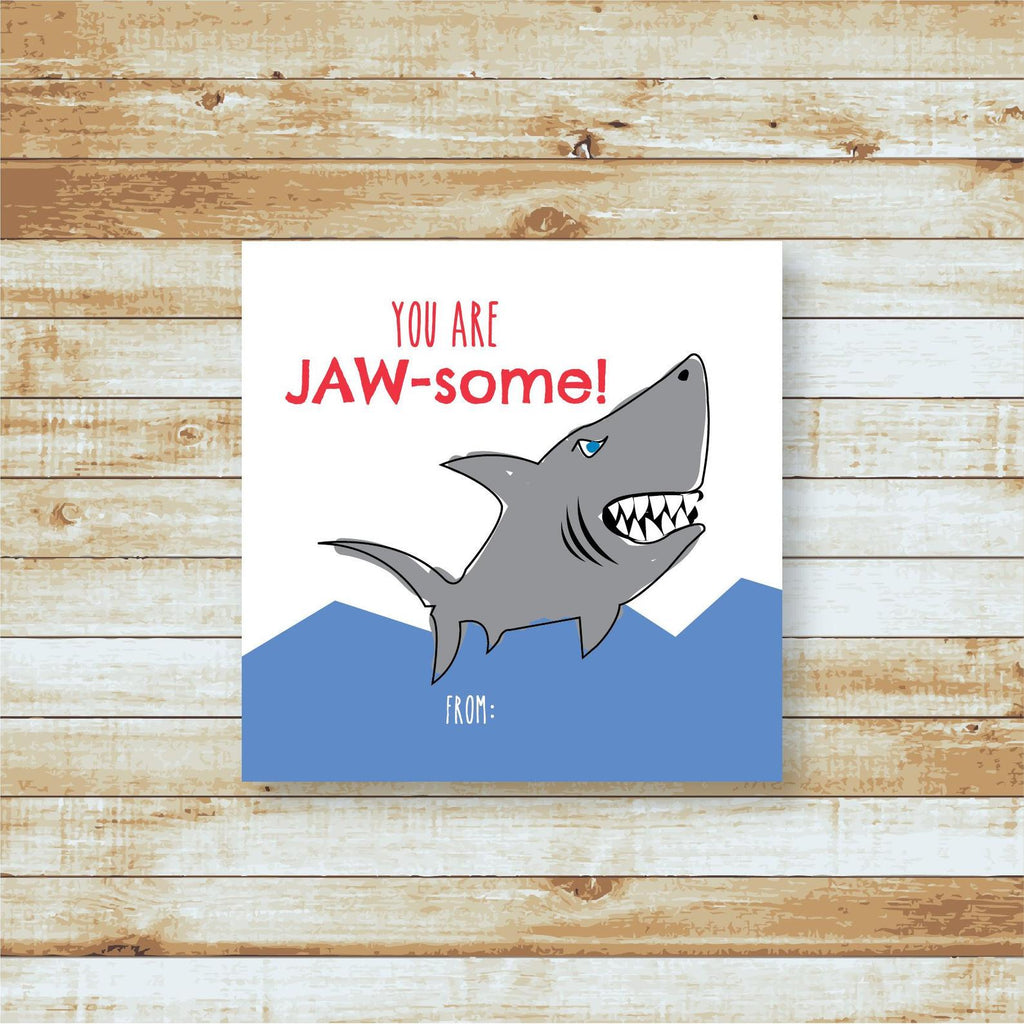 You're Jawsome Shark Valentine
