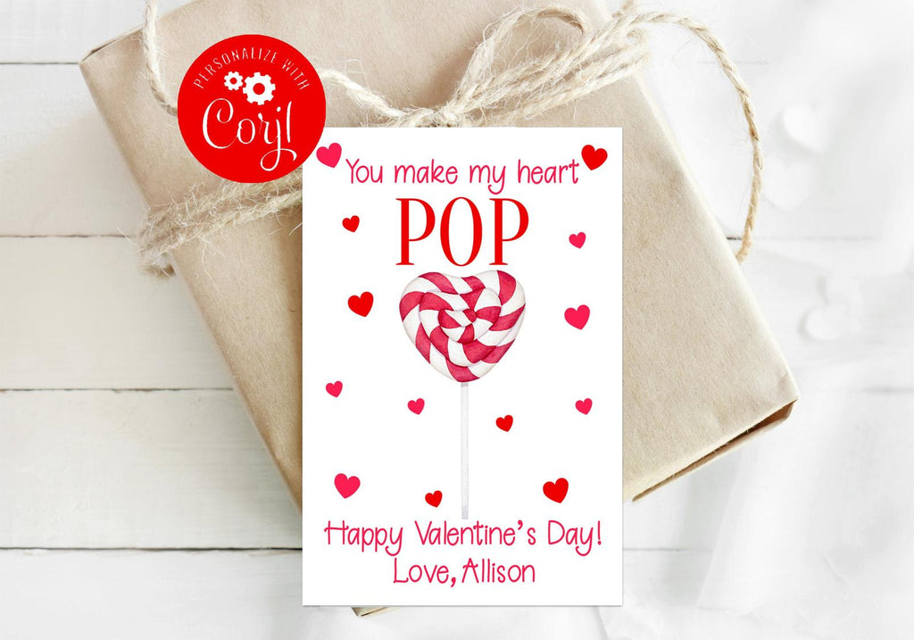 Heart Lollipop Valentine