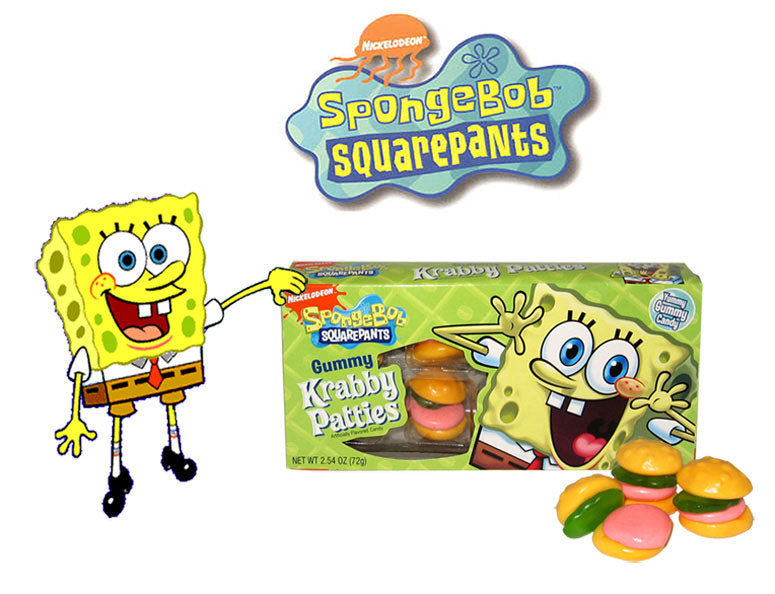 Spongebob Krabby Patties Gummy Box