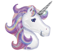 "33""  Jumbo Purple Unicorn Foil Balloon"
