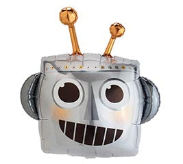 "35"" Jumbo Robot Head Balloon"
