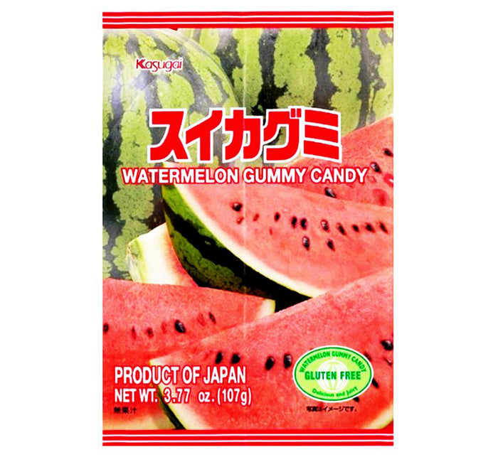 KASUGAI GUMMY CANDY - Watermelon PEG BAG 3.77oz