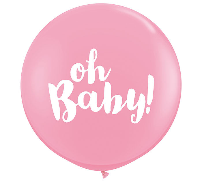 3' Oh Baby! Pink Balloon