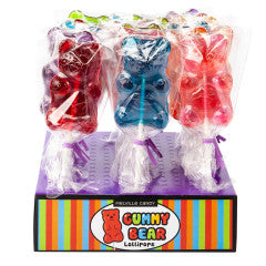 Gummy Bear Shaped Lollipop 1oz