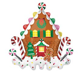 "30"" Gingerbread House Balloon"