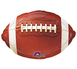 "18""  Brown Football Foil Balloon"