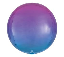 Ombre Pink Purple and Blue Orb Balloon
