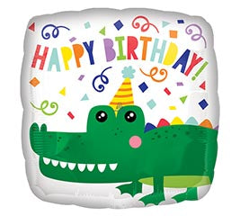 "17"" Gator Happy Birthday Balloon"