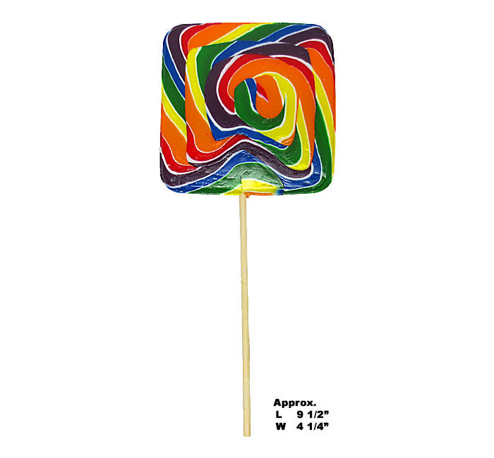 Giant Jumbo Wild West Square Lollipop 8oz