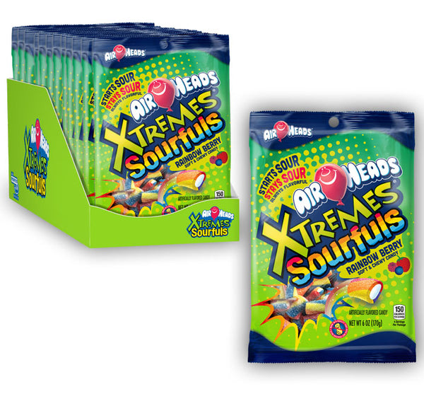AIRHEADS XTREMES SOURFULS PEG BAG 6oz