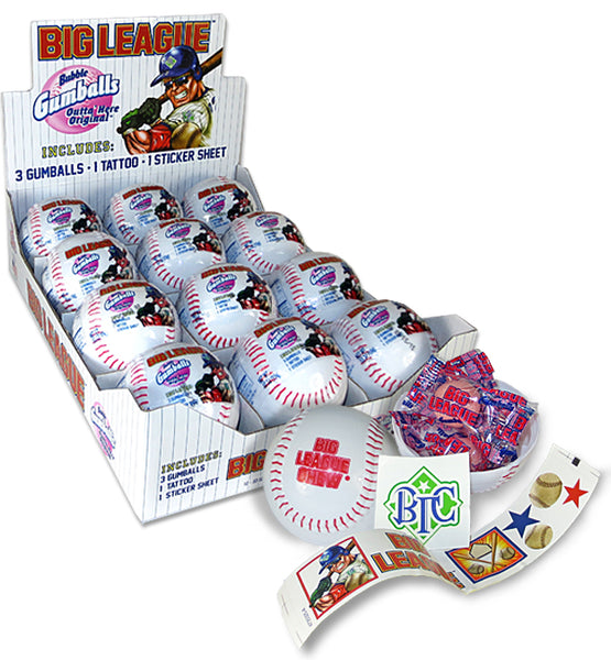 Big League Baseball with Gum and Stickers