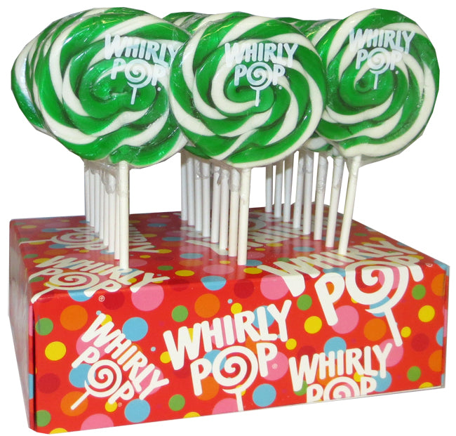 Green and White Whirly Pop 1.5oz