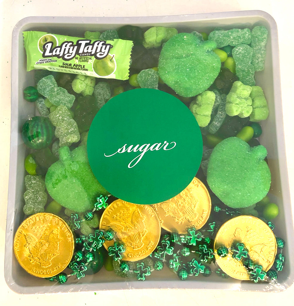 St Patricks Day Candy 7x7 Tray (No Bow)
