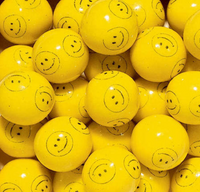 Smiley Face Yellow Bubble Gum Balls