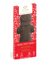 Jelina Dark Chocolate Shaped Gingerbread Pal