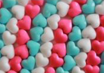 Tubes of Valentine Candy Hearts