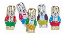 Milk Chocolate Foil Easter Rabbits