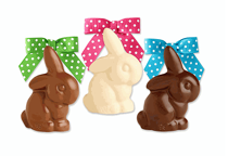 Fine Chocolate Solid Mini Bunnies