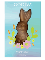 Godiva Solid Milk Chocolate Easter Bunny Box 5oz