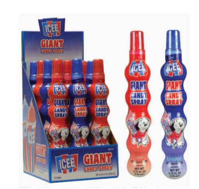 Giant Icee Spray Candy