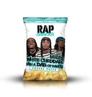 Migos White Cheddar Puffs with a Dab of Ranch Rap Snacks