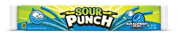 Blue Raspberry Sour Punch Straws 2 oz