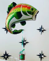 "29"" Jumbo Rainbow Trout Balloon with Candy"