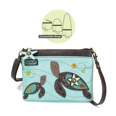 Totes and Bags Mini Crossbody Two Trutles Light Blue Light Blue