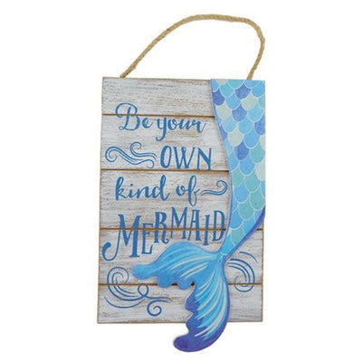 Beach Signs Be Your Own Kind Of Mermaid Sign Gray