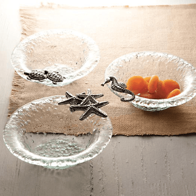 Decorative Bowls Clear Glass Sea Life Bowl Chocolate