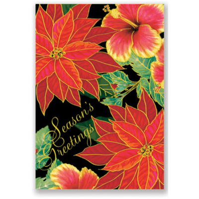 Christmas Hawaiian Supreme Holiday Cards Brown