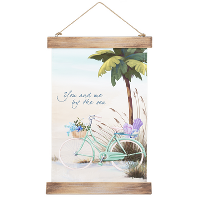 Beach Signs Hanging Canvas - You and me by the sea White Smoke