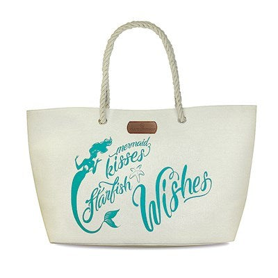 Totes and Bags Rope Handle Beach Tote Light Gray