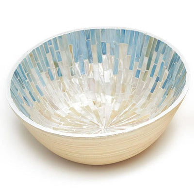 Decorative Bowls Oval Bamboo Bowl Gray