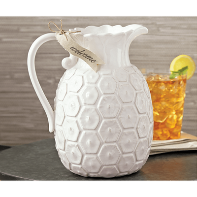 Home Decor Pineapple Pitcher Light Gray