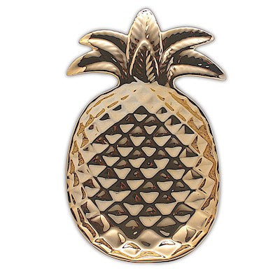 Jewelry Porcelain Pineapple Ceramic Decorative Plate Tan