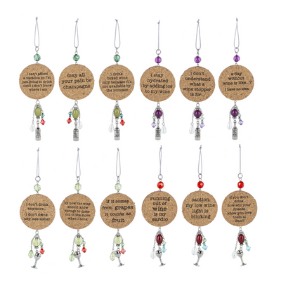 Wine Quirky Cork Ornaments Rosy Brown