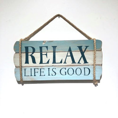 Beach Signs Relax Life Is Good Sign Dark Gray