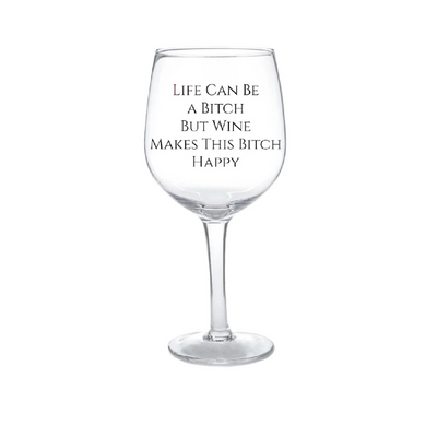 Wine Life Can Be 30oz Wine Glass White Smoke