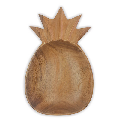 Decorative Bowls Wooden Large Bowl Pineapple Dark Khaki