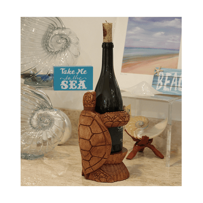 Wine Bottle Holders Wine Bottle Holder Turtle Saddle Brown