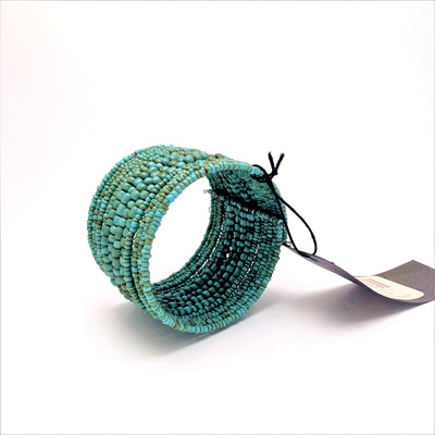 Bracelets Antiqued Cuff Blue Green Dark Slate Gray